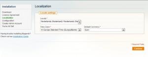 Magento localization Nederland instellingen